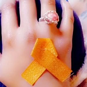 Handmade ring w/ ms ribbon